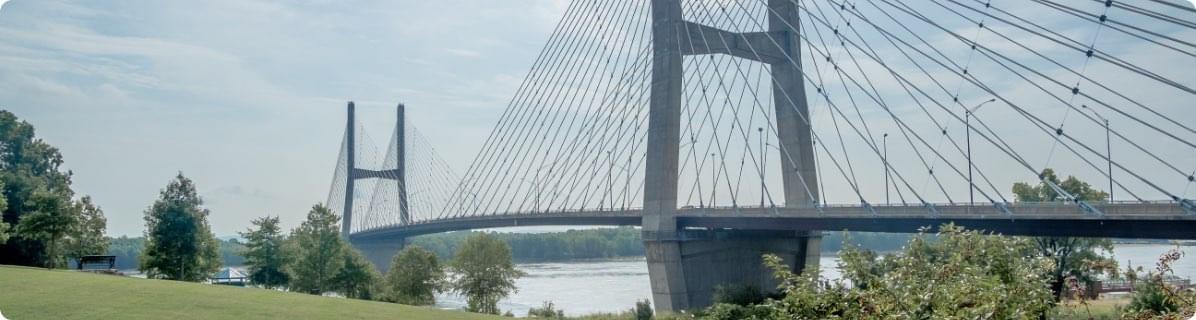 Bridge crossing a river